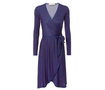 Kleid 'Margot Wrap Dress' Navy/Rot
