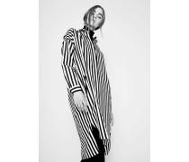 Blusen-Kleid mit Streifen Schwarz/Weiß
