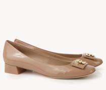 Lackleder-Ballerina 'Gigi Pump' Beige