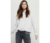 Oversized Cashmere Pullover Hellgrau