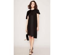 Kleid Layering-Look Schwarz