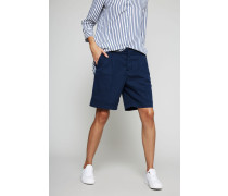 Baumwoll-Leinen Shorts Marineblau