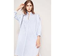 Blusen-Kleid mit Streifen Hellblau/Weiß