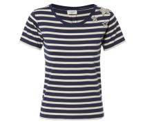 T-Shirt mit Sternenverzierung Marine/Weiß