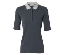 Baumwoll-Polo-Shirt Blaugrau