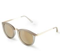 Sonnenbrille 'No Smirking' Beige/Gold