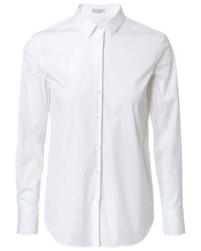 Bluse mit Verzierung Weiß