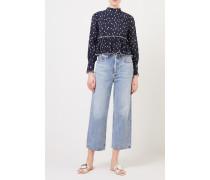 High-Waist Jeans 'Ren' Blau