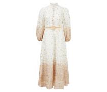 Leinenkleid 'Carnaby' mit floralem Muster Weiß