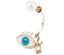 Ohrring 'Eye Piercing' /Türkis