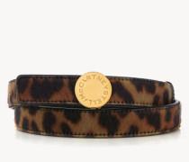 Gürtel im Leoparden-Look Braun/Schwarz