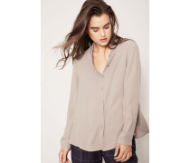 Seidenbluse 'Therese' Taupe