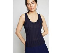 Feinripp-Shirt 'Sharley' Marineblau