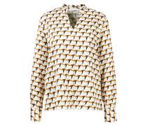 Viskose-Bluse mit geometrischem Muster