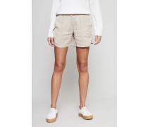 Bundfalten-Shorts Beige