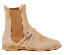 Chelsea-Boots mit Schließen-Details