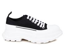 Canvas-Sneaker mit breiter Sohle Schwarz/Weiß