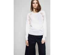 Woll-Pullover mit Heckel-Details Off White