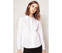 Strukturierte Bluse 'Mademoiselle' Weiß