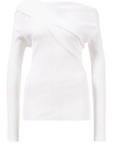 Plissiertes Baumwoll-Shirt Weiß