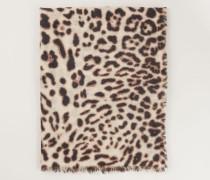 Cashmereschal mit Muster 'Joy' Natur Jaguar
