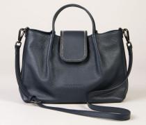 Handtasche mit Perlen-Details Blau