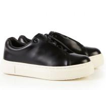 Leder-Sneaker 'Doja' Schwarz/Weiß