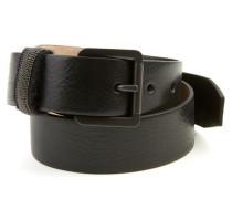 Gürtel aus strukturiertem Leder Schwarz