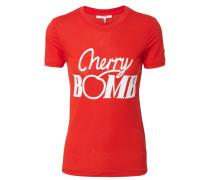 T-Shirt mit Statement Rot/Weiß