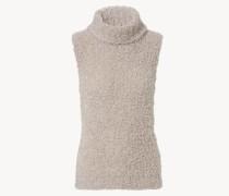 Rollkragenpullover mit kurzem Arm Beige