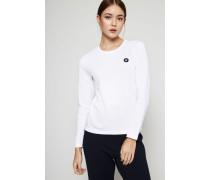Langarmshirt 'Moa' Bright White