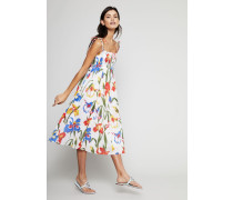 Langes Kleid 'Iris' mit Blumenmuster Multi