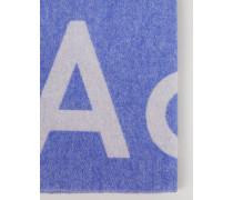 Woll-Schal 'Toronty' mit Logoprint /Weiß