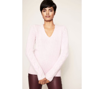 Grobstrick-Cashmere-Pullover 'Athena' Rosa
