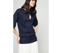 Seiden-Pullover mit Knotendetail Ink