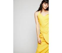 Trägerkleid 'La Robe Sol' mit Raffungen Gelb