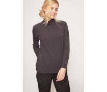 Cashmere-Pullover mit Perlen-Details Carbon