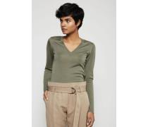 Cashmere-Seiden-Pullover Khaki