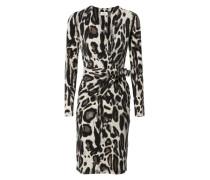 Leoparden-Kleid mit Schleifen-Detail Multi