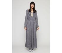 Maxi-Kleid mit Glitzereffekt Silber