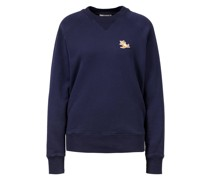 Sweatshirt 'Chillax Fox Patch Classic' Marineblau