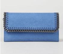 Portemonnaie mit Ketten-Umrandung Denim