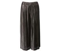Glänzender Culotte-Hose mit Plissée Falten Rosé Multi