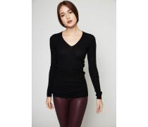 Leichter Cashmere-Pullover Schwarz