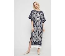 Langes Kleid 'Beatrice 2-teilig' mit Print Navy/Ivory
