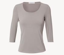 Basic Shirt mit 3/4-Ärmeln Altrosé
