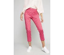 Gemusterte Bügelfaltenhose Pink/Multi