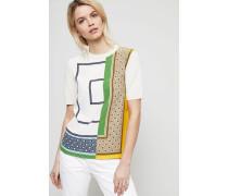 Seiden-Shirt 'Greers Sweater' Stone/Multi