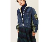 Jeansjacke mit Details Blau 100% Baumwolle Füllung: - 100% Polyester Made in Japan