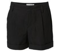Lässige Shorts 'Slouchy' mit Bundfalten Schwarz